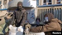 Прарасейскія пратэстоўцы ў Луганску