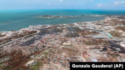 Pamje nga dëmi që ka shkaktuar uragani Dorian në Bahamas.