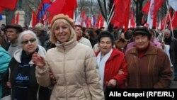 Митинг противников ассоциации с ЕС в Кишиневе (23 ноября 2013 года)