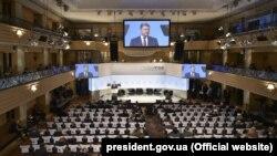 Зал, где проводилась конференция по безопасности, Мюнхен, 16 февраля 2019 года.