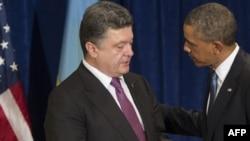 Президент України Петро Порошенко та президент США Барак Обама