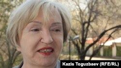 """Тамара Калеева, руководитель прессозащитной организации """"Адил соз"""". Алматы, 22 апреля 2014 года."""