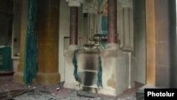 Սիրիա - Հրկիզված Սուրբ Գեւորգ հայկական եկեղեցին Հալեպում, հոկտեմբեր, 2012թ.