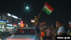 Grab: Iraq -- Kurds celebrate after independence referendum, Irbil, Sep 25