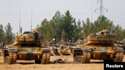 Along with its proxy rebel forces, the Turkish intervention into the conflict in Syria was the beginning of the advance on the Islamic State stronghold of Dabiq. (file photo)
