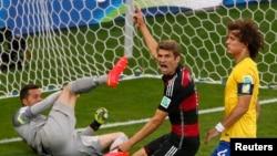 Германия құрамасының голы. Бразилия, 8 шілде 2014 жыл.