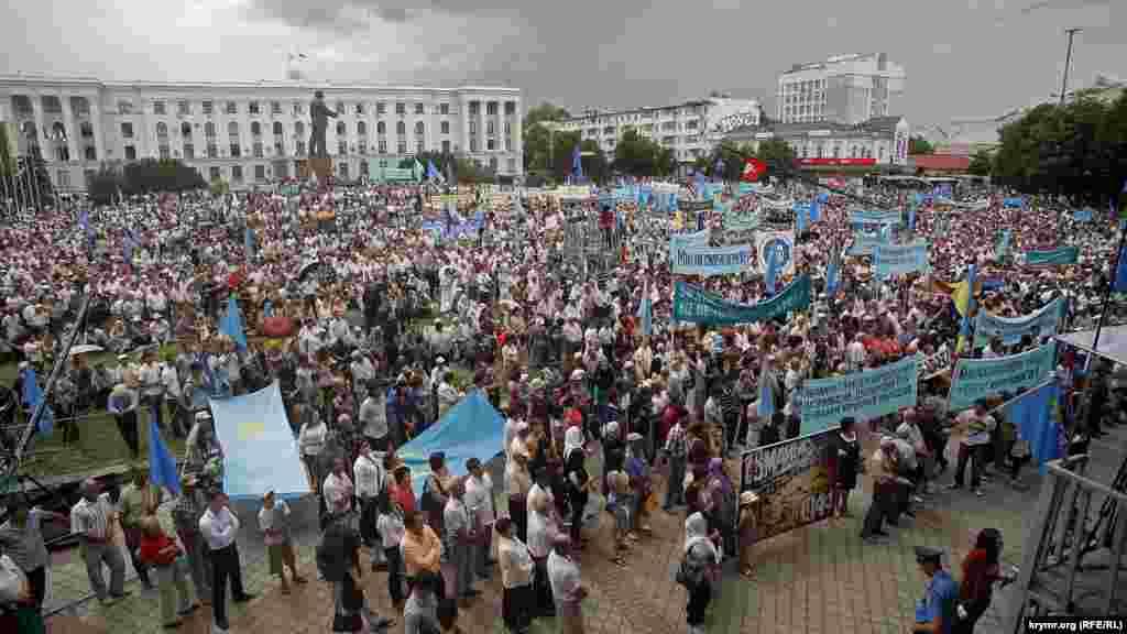 18 травня 2013 року – останній масовий мітинг в пам'ять про жертв депортації кримських татар. Після анексії зібрання на півострові – під забороною