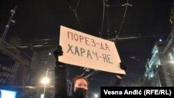 Protest frilensera ispred Vlade Srbije
