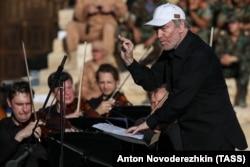 Валерий Гергиев на концерте в Пальмире