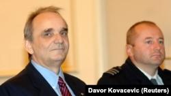 Branimir Glavaš tokom suđenja za ratne zločine, Zagreb, oktobar 2007. godine