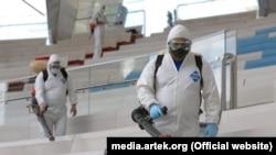 Санобработка в «Артеке», первая смена, июль 2020 года