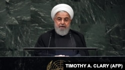 Iran's President Hassan Rouhani addresses the 73rd session of the General Assembly at the United Nations in New York September 25, 2018.