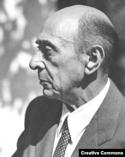 Arnold Schoenberg în 1948. (The Schoenberg Archives at USC/ Photo: Florence Homolka)