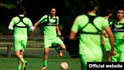 تمرین تیم ملی فوتبال قبل از بازی با عراق در سیدنی؛ عکس از سایت فدراسیون فوتبال ایران