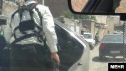 عکس منتشر شده از این حادثه در خبرگزاری مهر