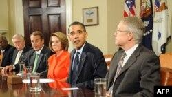 Presidenti Obama në takim me anëtarët e Kongresit amerikan
