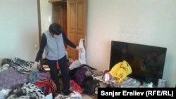 Гульнара Айталиева в своей квартире.