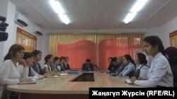 Заседание правового совета в школе № 60 в городе Актобе. 1 ноября 2017 года.
