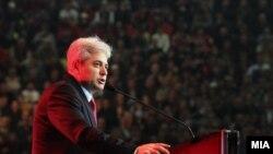 Лидерот на ДУИ Али Ахмети говори на прославата по повод 100 годишнината од албанската независност.