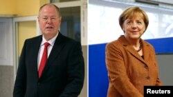 Angela Merkel dhe Peer Steinbrueck (majtas).