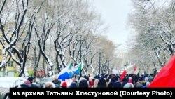 Шествие в поддержку Сергея Фургала, Хабаровск, декабрь 2020 года