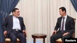 یکی از دیدارهای پیشین دبیر شورای عالی امنیت ملی ایران به بشار اسد، در مهرماه ۹۳