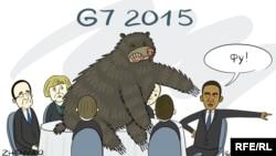 Саяси карикатура. Авторы - Евгения Олейник.