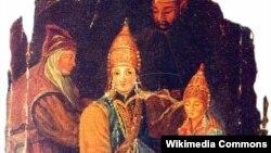 Сөембикә улы Үтәмешгәрәй хан 1553 елның гыйнварында Александрисеме белән Чудов монастырендә чукындырыла