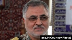 FILE - Qader Rahimzadeh Lieutenant Commander of Iran's air defense forces.