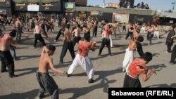 کابل کې د ابوالفضل زیارت مخکې د افغان شیعه مسلمانانو مذهبي مراسم