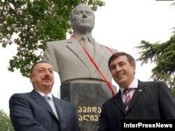 Tbilisidə H.Əliyevin heykəlinin açılışı, 12 may 2007