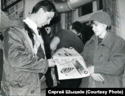 «Могилев Times» толькі з друкарні. Фота з архіву Шышкіна