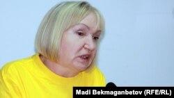 Тамара Калеева, президент прессозащитной организации «Адил соз». Алматы, 10 сентября 2012 года.
