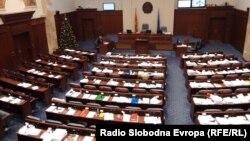 Зал заседаний парламента Македонии. 11 января 2019 года.