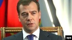 Россия Президенти Дмитирий Медведев.