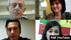Daniel Serwer (G-L), Deana Kjuka (G-D), Xhabir Deralla (D-L) i Marija Tumanovska (D-D)