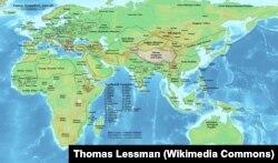 Avrasiya qitəsi monqolların işğalından əvvəl