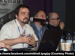 Михайло Тяглий виступає на міжнародній конференції