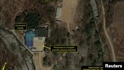 Комерційний супутниковий знімок північнокорейського ядерного полігону Пхунґ'єрі