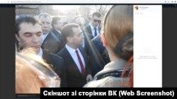 31 березня 2014 року Єлизавета зробила кілька фото з Медведєвим, який приїхав до окупованого Криму