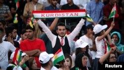 Демонстрация иракских курдов в поддержку референдума, Духук (Иракский Курдистан), 16 сентября 2017 года