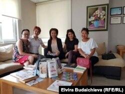 Представители организации «Общество кыргызских женщин».