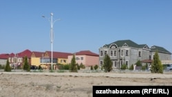 "Turkmenistan. The village ""Charam oba,"" where senior officials have built luxury villas. 27May2015"