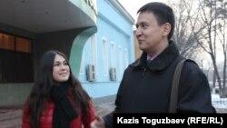Havas Worldwide Kazakhstan жарнама агенттігінің директоры Дария Хамитжанова мен өкілі Жохар Өтебеков. Алматы, 18 желтоқсан 2014 жыл.