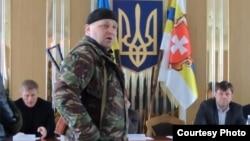 Активный участник «Правого сектора» Александр Музычко. 9 марта 2014 года.