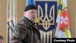Один из лидеров «Правого сектора» Александр Музычко. 9 марта 2014 года.