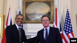 Барак Обама жана Дэвид Кэмерон Лондондогу сүйлөшүү учурунда. 22-апрель, 2016-жыл.