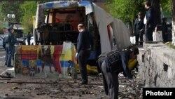 Жарыялуу болгон автобус, Ереван, 26-апрель, 2016-жыл