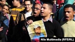 من اعتصام طلاب هندسة جامعة القاهرة