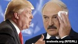 Дональд Трамп і Аляксандар Лукашэнка, каляж